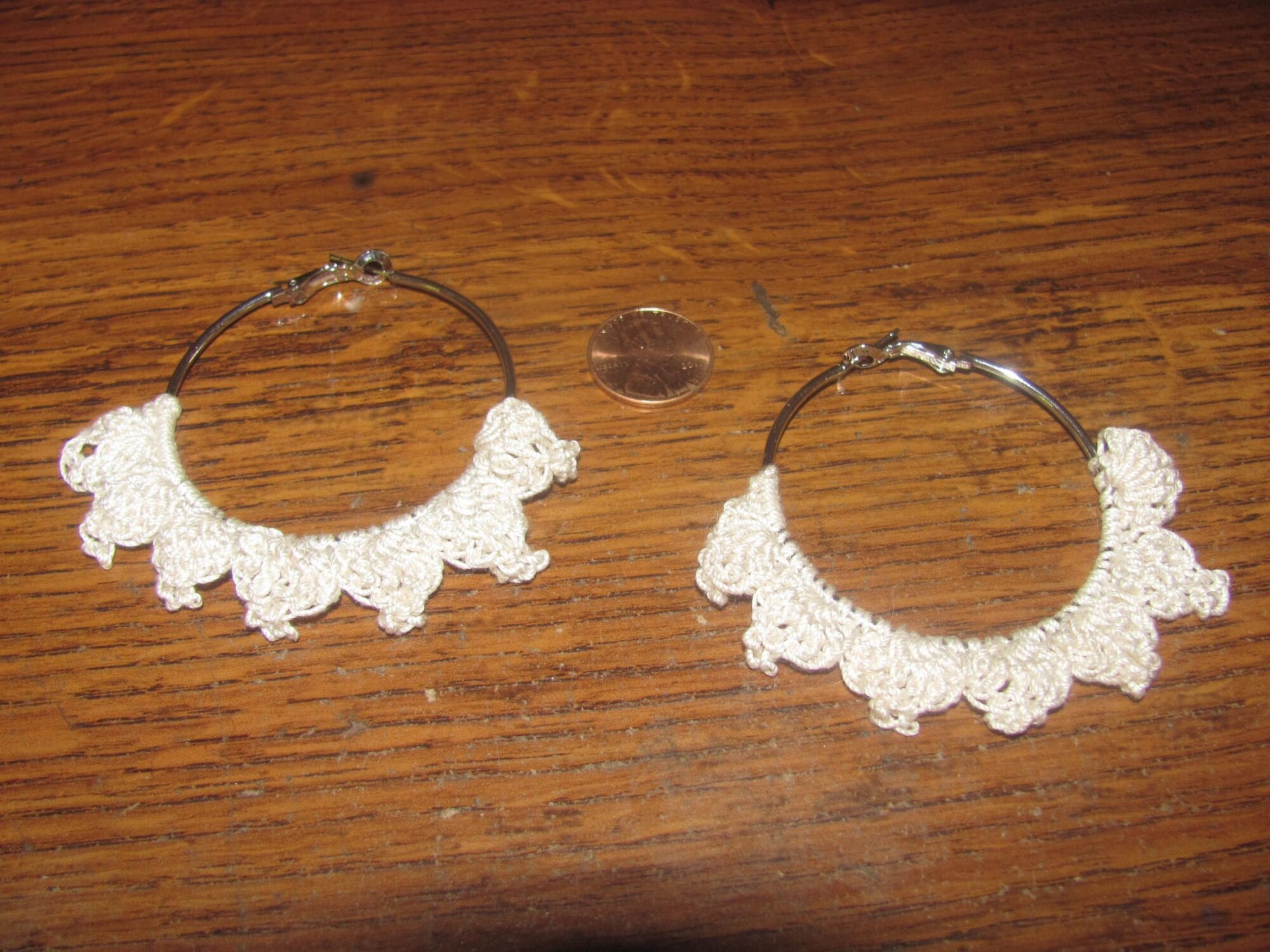 Ivory Picot Earrings