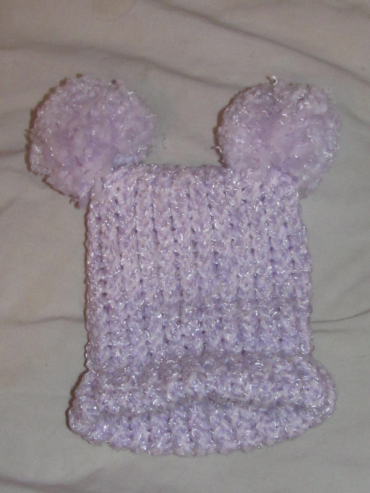 Double Knit Box Hat - Purple/Pink