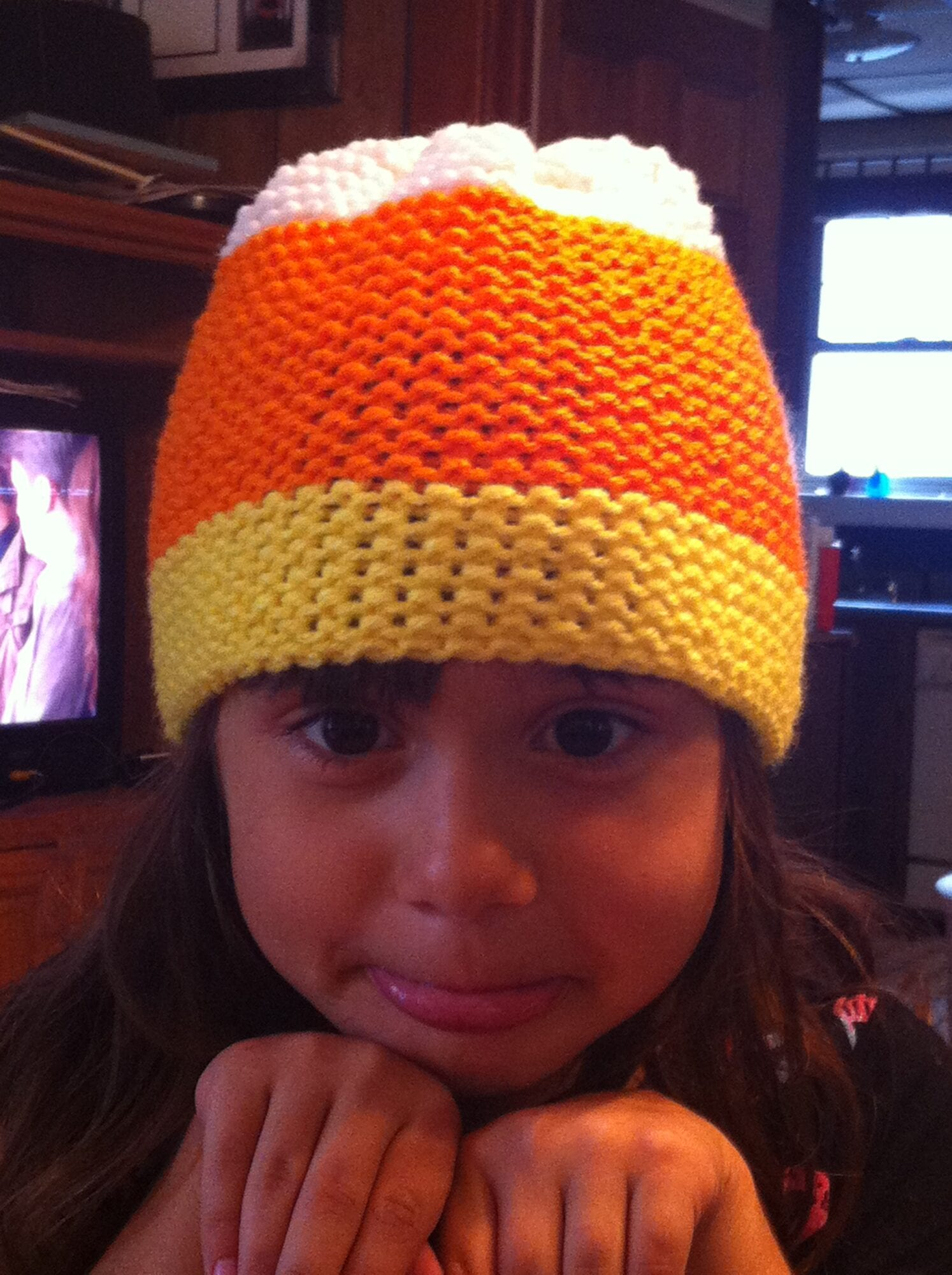 Custom Made Candy Corn Hat