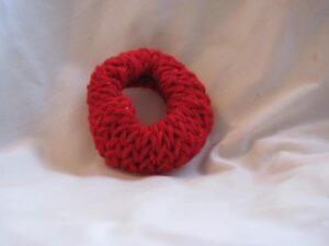 Red Sparkle Knitted Scrunchie
