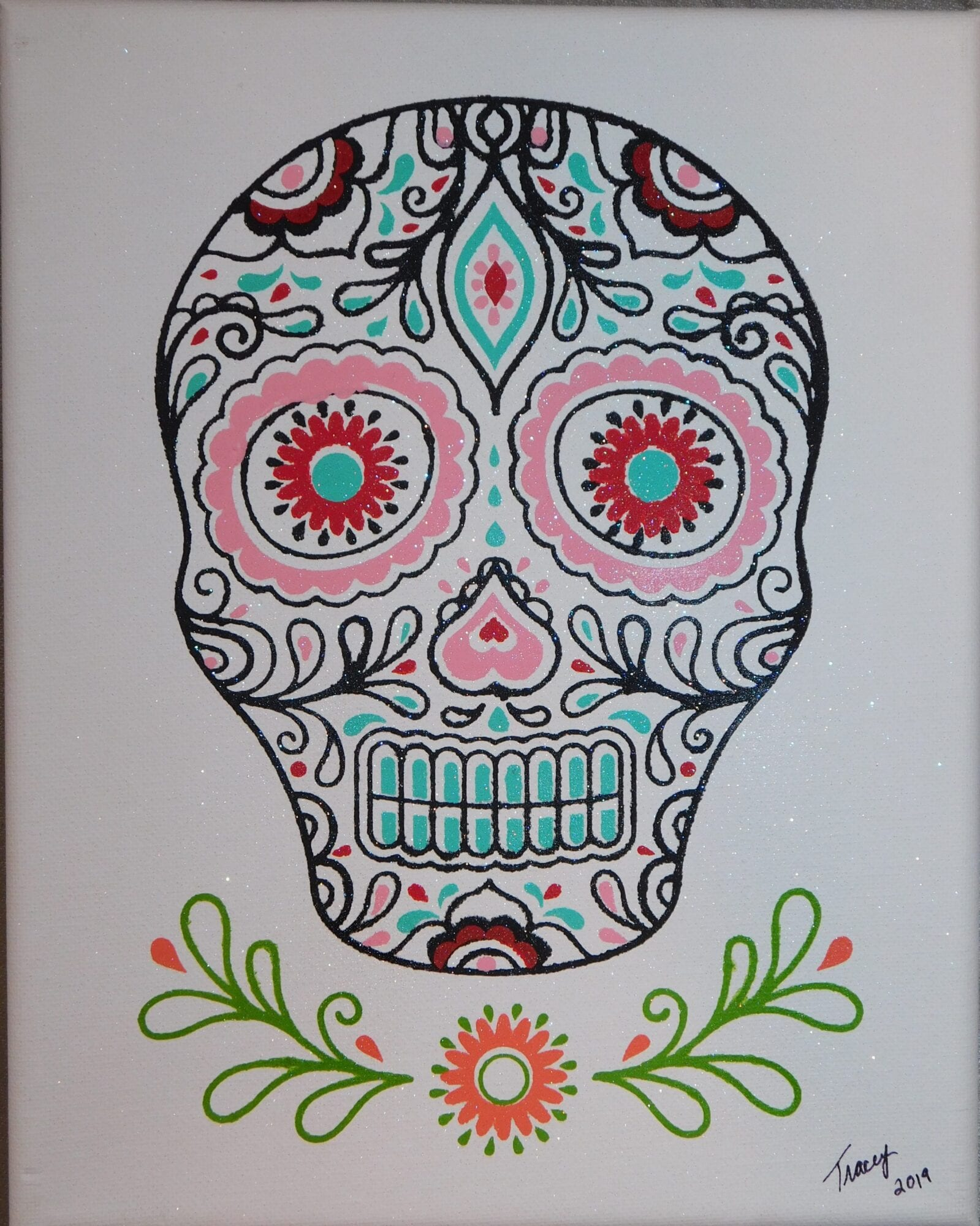 Skull On Canvas #1