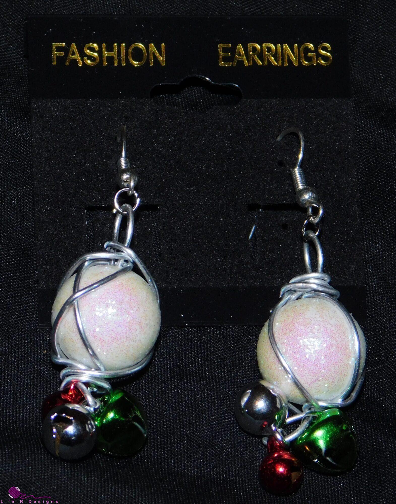 Snowballs w/Bells Earrings