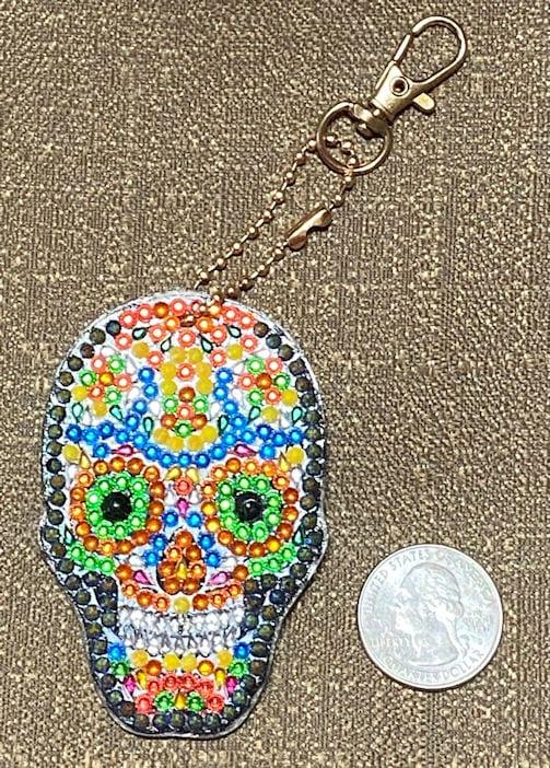Skull Crystal Rhinestone Keychain #1